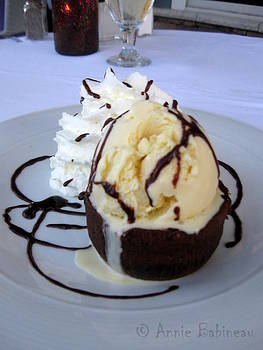 Anne Babineau - molten chocolate cake