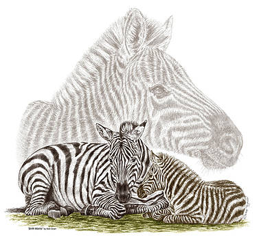 Kelli Swan - Mom and Baby Zebra Art