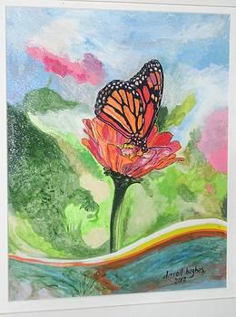 Monarch on a Flower by Darrell Hughes