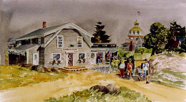 Monhegan Island Store by Harding Bush