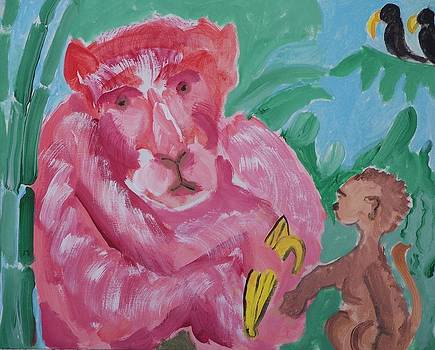 Monkey Red by Jay Manne-Crusoe