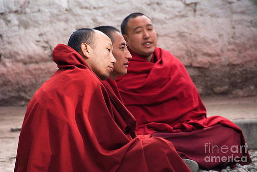 Monks debating by Tomaz Kunst