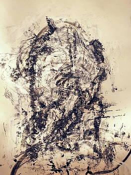 Monoprint Portrait 2 by JC Armbruster