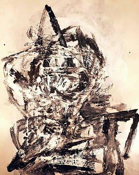 Monoprint Portrait 3 by JC Armbruster