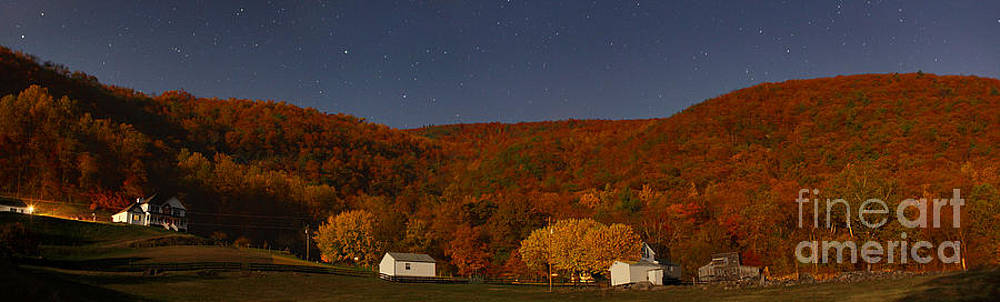 Moon lit farm 6796 by Chuck Smith