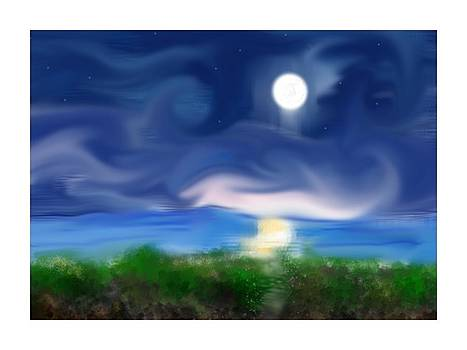 Moon Over the Atlantic by Diane Maley