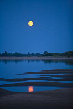 Moon over the River Vyatka by Andrew Shlykoff