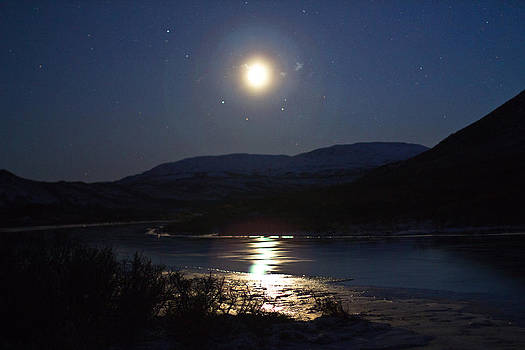 Moonrise over Fielding Lake by Kelly Turnage