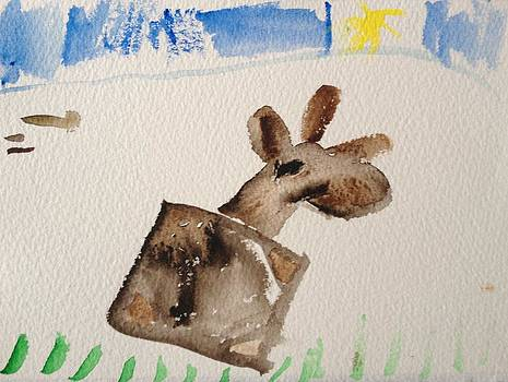 Moose by My Daughter