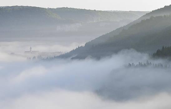 Morning mist - Fog in Donautal valley by Matthias Hauser