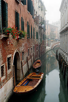 Morning Mist On a Narrow Canal in Venice by Greg Matchick