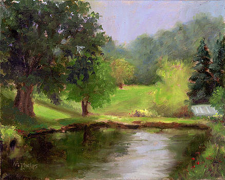 Morning on a pond by Mary Phelps