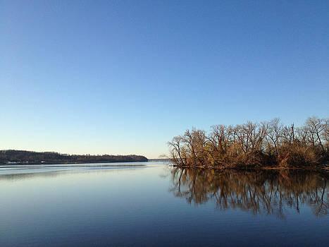 Morning River Reflection by Bob Lennox