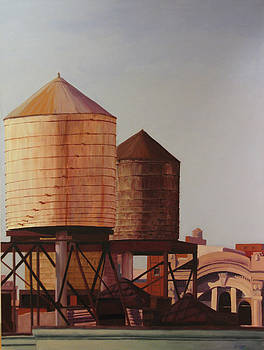 Morning Sun on New Water Tank by Gary Conger