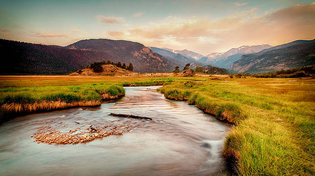 Morraine Park Sunrise Rocky Mountain National Park 3216  by Ken Brodeur
