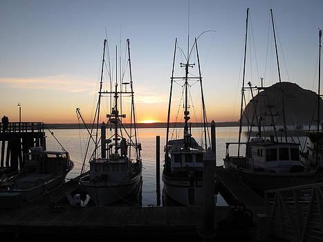 Sunset at Morro Bay by Alvin Santos