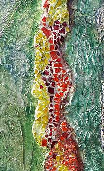 Mosaic river by Vicky Mowrer