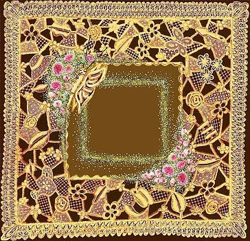 Mossy Rose Lace Matting  by Jenny Elaine