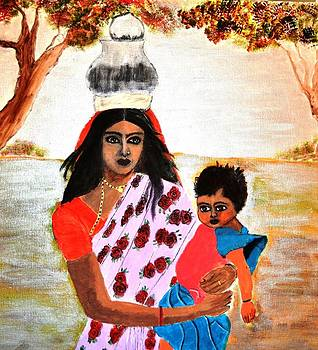Mother And Child 2 by Salomi Prakash