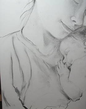 Mother and Sleeping Child by Sheila Gunter
