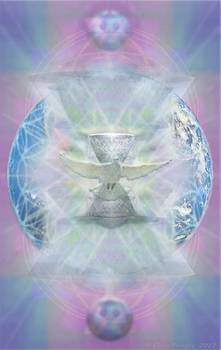 Mother Earth Dove and Chalice by Christopher Pringer