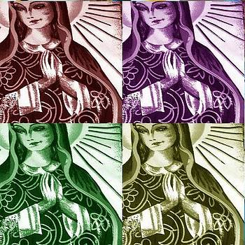 Mother Mary Pop Art by Julie Butterworth