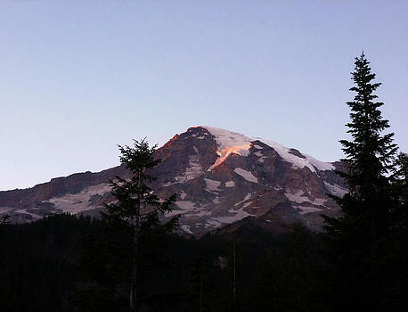 Mount Rainier Autumn Sunset by Christine Burdine