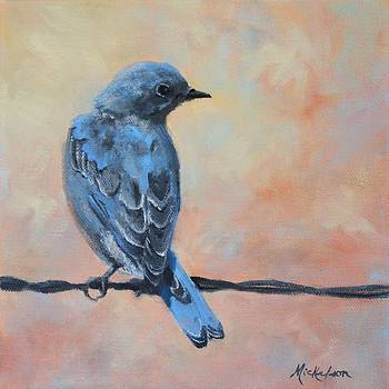 Mountain Bluebird by Debra Mickelson