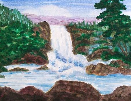 Mountain Falls by Jeanette Stewart