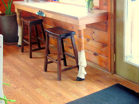 Mountain Goat Table Legs by Amy Bradley