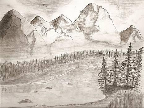 Mountain landscape by Salomi Prakash