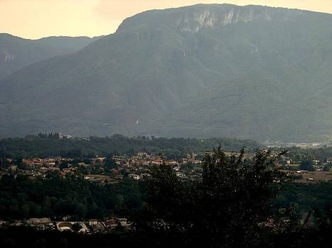 Mountain over Lucca by Winston Moran