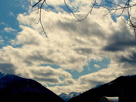 Mountains with Clouds by Amy Bradley