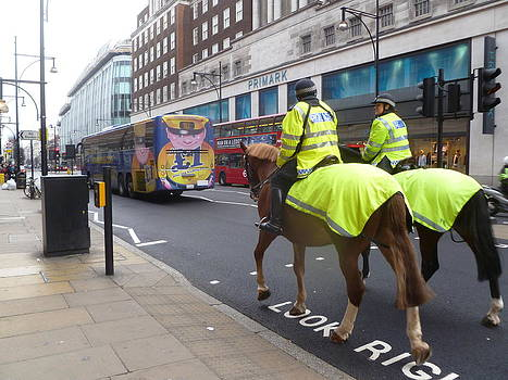 Yvonne Ayoub - Mounted Police Oxford St