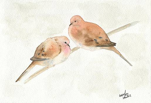 Mourning doves by Wenfei Tong