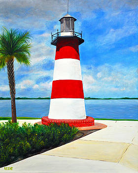 Mt Dora lighthouse by Jeanette Keene