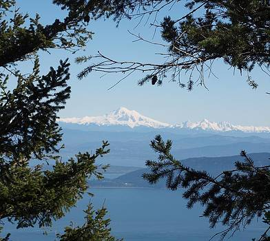 Mt Hood from Mt Constitution  by Jim Moore