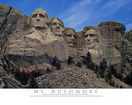 Mt Rushmore by Kimberly Blom-Roemer