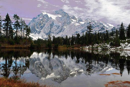Mt Shuksan Reflected by Wanda Jesfield