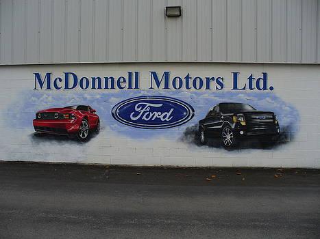 Mural for Ford Dealer by Al  Brown