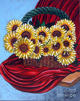 My First Sunflowers by Annette Jimerson