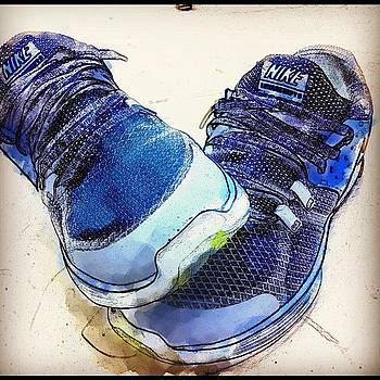 My New Kicks.  #nike #watercolor by David Leandro