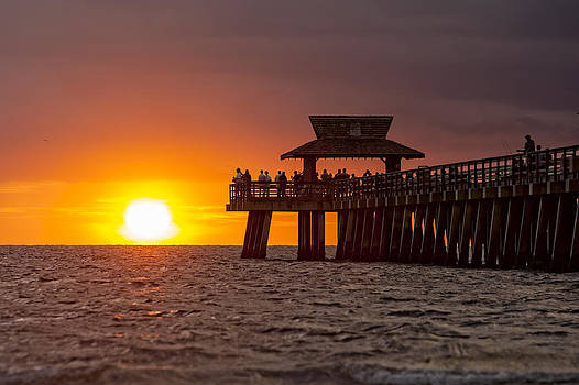 Naples Pier Evening by Nick  Shirghio