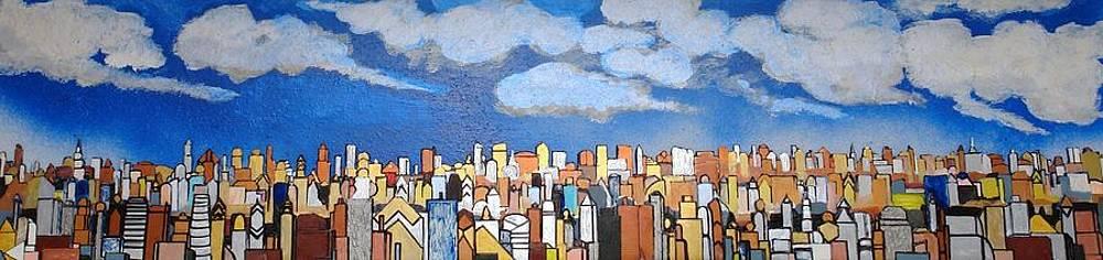 Robert Handler - Narrow View of the Daytime Skyline