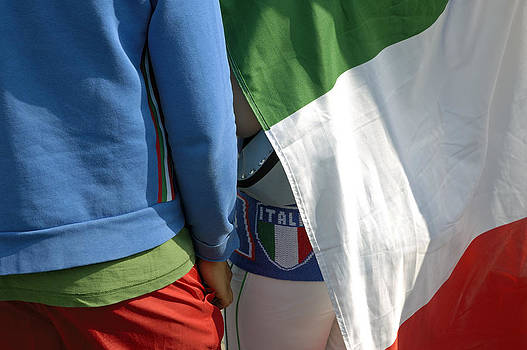 National colors of italy - green white and red by Matthias Hauser
