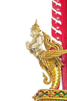 Native Thai style angel statue  by Kobchai Sukruean