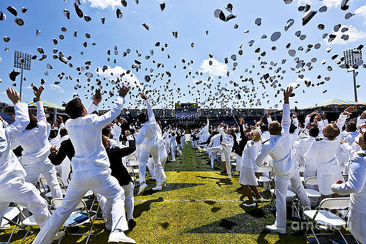 Naval Academy Cover Toss 2012 by Mark East