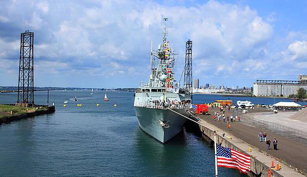 Navy In the Buffalo Harbor by Beverly Kobee
