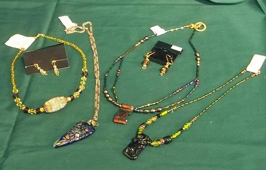 Necklaces and Earring by Carolyn Kelly