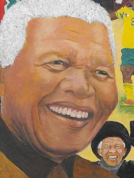 Nelson Mandela - Appearance at 2010 soccer goldcup by Jeanne Silver